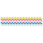 American Crafts - Grosgrain Ribbon - 1.5 Inch - Geo Diamonds - 3 Yards
