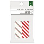 American Crafts - Christmas - Washi Tape - Green and Red Dots and Red Stripes