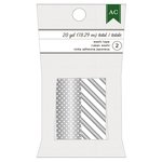 American Crafts - Christmas - Washi Tape - Silver Dots and Silver Stripes