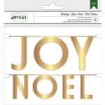 American Crafts - Christmas - Garland - Joy and Noel - Gold Foil