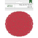 American Crafts - Christmas - Doilies - Red