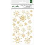 American Crafts - Christmas - Foil Stickers - Snowflakes