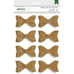 American Crafts - Christmas - Gold Glitter Bows