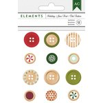 American Crafts - Christmas - Holiday Buttons
