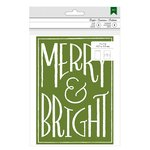 American Crafts - Christmas - Cards and Envelopes - Merry and Bright