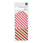American Crafts - Christmas - Tags - Red and Green Striped