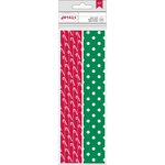 American Crafts - Christmas - Paper Straws - Candy Cane and Dot