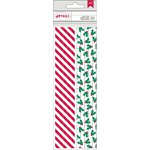 American Crafts - Christmas - Paper Straws - Mistletoe and Stripe