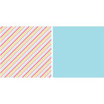 American Crafts - Spring and Summer Collection - 12x12 Double Sided Paper - Serviette, CLEARANCE