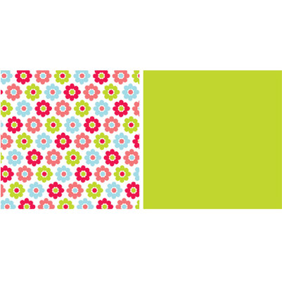 American Crafts - Spring and Summer Collection - 12x12 Double Sided Paper - Teacups, CLEARANCE