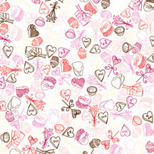 American Crafts - Romance Collection - 12x12 Paper - Puppy Love, CLEARANCE