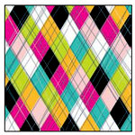 American Crafts - Teen Collection - 12 x 12 Double Sided Paper - Class President, CLEARANCE