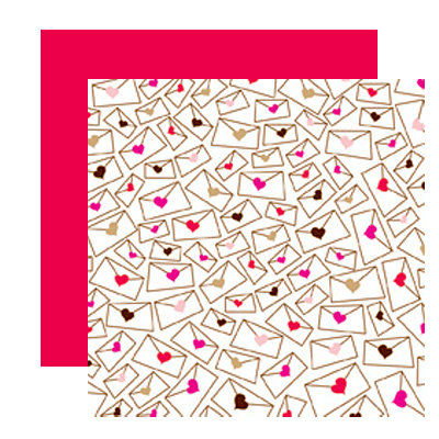 American Crafts - I Heart You Collection - 12 x 12 Double Sided Paper with Glitter Accents - Dear, CLEARANCE
