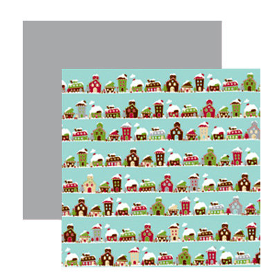 American Crafts - Merrymint Collection - Christmas - 12 x 12 Double Sided Paper - Gingerbread House, CLEARANCE