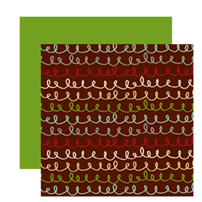 American Crafts - Merrymint Collection - Christmas - 12 x 12 Double Sided Paper with Glitter Accents - Streusel, CLEARANCE