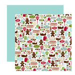 American Crafts - Merrymint Collection - Christmas - 12 x 12 Double Sided Paper - Candy Shoppe, CLEARANCE