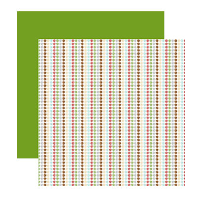 American Crafts - Merrymint Collection - Christmas - 12 x 12 Double Sided Paper - Toffee , CLEARANCE