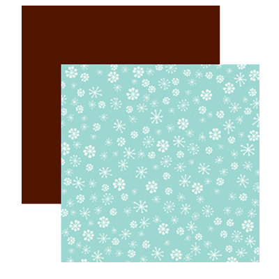 American Crafts - Merrymint Collection - Christmas - 12 x 12 Double Sided Paper with Glitter Accents - Marshmallow, CLEARANCE