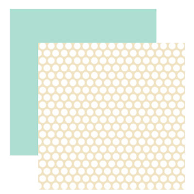 American Crafts - Blue Skies Collection - 12 x 12 Double Sided Paper - Sunny Day, CLEARANCE