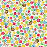 American Crafts - Heat Wave Collection - 12 x 12 Double Sided Paper with Glitter Accents - Cherry Cowabunga, CLEARANCE