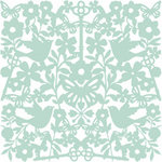 American Crafts - Dear Lizzy Enchanted Collection - 12 x 12 Lace Paper - Delightful Robin, CLEARANCE