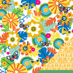 American Crafts - Margarita Collection - 12 x 12 Double Sided Paper - Samba