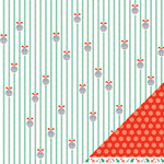 American Crafts - Hollyday Collection - Christmas - 12 x 12 Double Sided Paper - Bellsnickle