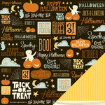 American Crafts - Nightfall Collection - Halloween - 12 x 12 Double Sided Paper - Halloween Night