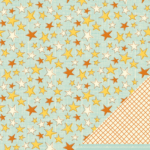 American Crafts - Nightfall Collection - Halloween - 12 x 12 Double Sided Paper - Starry Night