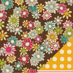 American Crafts - Garden Cafe Collection - 12 x 12 Double Sided Paper - Sunflower Deli