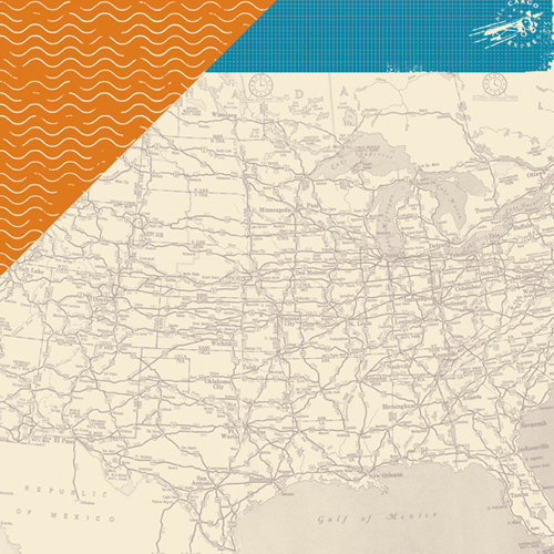 American Crafts - Amy Tangerine Collection - 12 x 12 Double Sided Paper - Wanderlust
