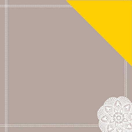 American Crafts - Amy Tangerine Collection - 12 x 12 Double Sided Stitched Paper - Hello Doily