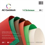 American Crafts - 12 x 12 Cardstock Pack - 48 Sheets - Christmas