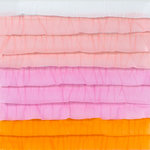American Crafts - Dear Lizzy Neapolitan Collection - 12 x 12 Stitched Ruffled Crepe Paper - Sun Kissed