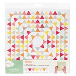 American Crafts - Dear Lizzy Neapolitan Collection - Flutterbys - Stitched Paper Garland - Happy Chance Pennant