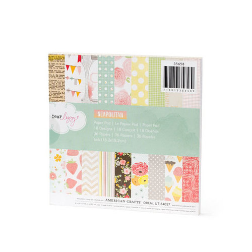 American Crafts - Dear Lizzy Neapolitan Collection - 6 x 6 Paper Pad