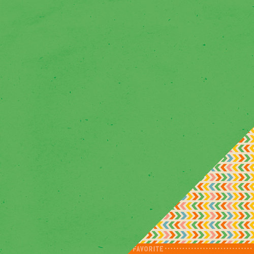 American Crafts - Amy Tangerine Collection - Ready Set Go - 12 x 12 Double Sided Paper - Green Light