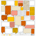 American Crafts - Amy Tangerine Collection - Ready Set Go - 12 x 12 Double Sided Paper - Think Good Thoughts