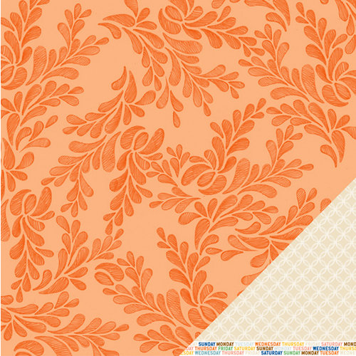 American Crafts - Amy Tangerine Collection - Ready Set Go - 12 x 12 Double Sided Paper - Wind Down