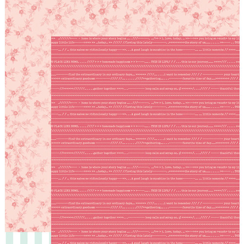 American Crafts - Dear Lizzy 5th and Frolic Collection - 12 x 12 Double Sided Paper - Memory Lane