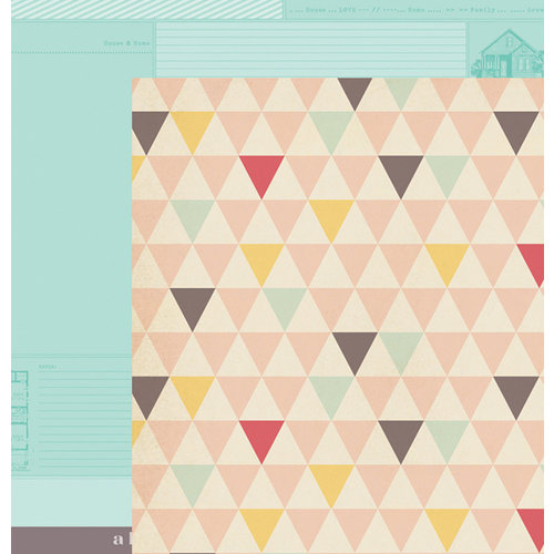 American Crafts - Dear Lizzy 5th and Frolic Collection - 12 x 12 Double Sided Paper - Bowtie Boulevard