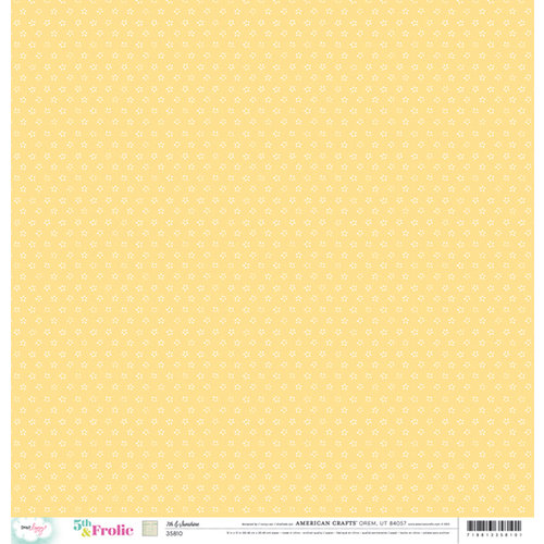 American Crafts - Dear Lizzy 5th and Frolic Collection - 12 x 12 Double Sided Paper - 7th and Sunshine