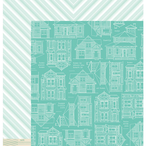 American Crafts - Dear Lizzy 5th and Frolic Collection - 12 x 12 Double Sided Paper - Aspen Place