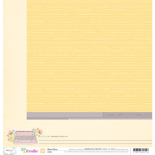 American Crafts - Dear Lizzy 5th and Frolic Collection - 12 x 12 Double Sided Paper - Autumn Avenue
