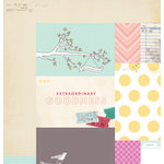 American Crafts - Dear Lizzy 5th and Frolic Collection - 12 x 12 Double Sided Paper - Extraordinary Avenue