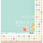 American Crafts - Dear Lizzy 5th and Frolic Collection - 12 x 12 Double Sided Paper - Dreamy Drive