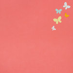 American Crafts - My Girl Collection - 12 x 12 Stitched Butterfly Paper - Darling Darcy