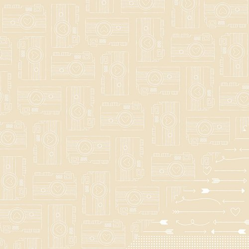 American Crafts - Amy Tangerine Collection - Yes, Please - 12 x 12 Kraft Paper - Commitment