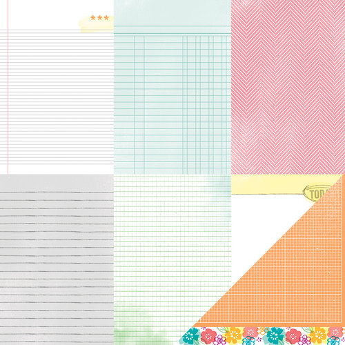 American Crafts - Amy Tangerine Collection - Yes, Please - 12 x 12 Double Sided Paper - Hello