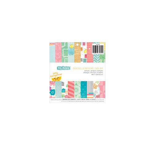 American Crafts - Amy Tangerine Collection - Yes, Please - 6 x 6 Paper Pad